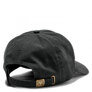 TIMBERLAND SOUNDVIEW COTTON CANVAS BASEBALL CAP TB0A1E9M-001-BLACK