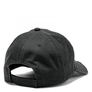 TIMBERLAND DISTRESSED BB CAP WITH TREE LOGO TB0A1EZL-001-BLACK