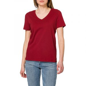 SUPERDRY LIGHTWEIGHT ESSENTIAL VEE T-SHIRT W1010543A-5KB-MOROCCAN RED