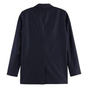 SCOTCH & SODA LONGER LENGTH DOUBLE BREASTED BLAZER 162037-0002-NIGHT