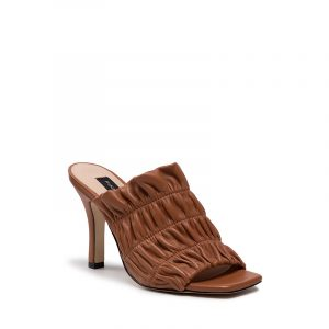 PINKO CAMELIA LEATHER SANDALS 1H20TT Y71M L39-LEATHER BROWN