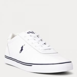 POLO RALPH LAUREN HANFORD LEATHER TRAINER 816765046002-WHITE