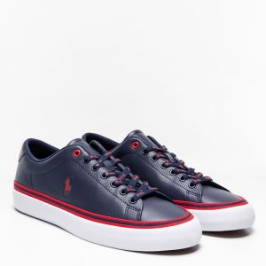 POLO RALPH LAUREN LONGWOOD LEATHER TRAINER 816829759003-NAVY