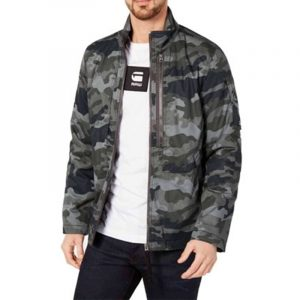 G-STAR RAW CLACKBY FIHSTAIL PARKA JACKET 82154D.6331.576-MDF-GREEN CAMO