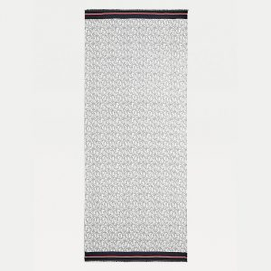 TOMMY HILFIGER OUTLINE MONOGRAM SCARF AW0AW09789-0GY-CORPORATE