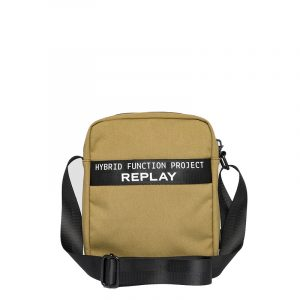 REPLAY CANVAS CROSSBODY BAG FM3507.000.A0330A 1424-LT MILITARY GREEN/BLACK