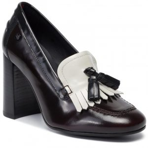 TOMMY HILFIGER ICONIC POLISHED PUMP FW0FW04540-0K6-BROWN