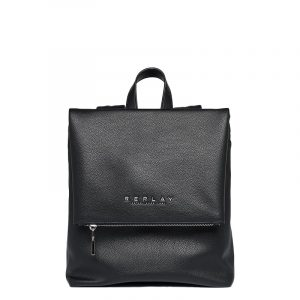 REPLAY SOFT BACKPACK WITH FLAP FW3083.000.A0363C 298-MATT BLACK