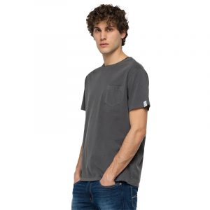 REPLAY ESSENTIAL CREWNECK T-SHIRT IN COTTON M3350 .000.23100G 297-ASH GREY