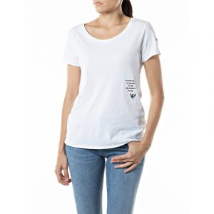REPLAY SLIM FIT T-SHIRT WITH ROSE LABEL T-SHIRT W3327B.000.23120P 001-WHITE