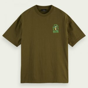 SCOTCH & SODA RELAXED COTTON-JERSEY  ARTWORK ΜΠΛΟΥΖΑ 160872-0115-ARMY