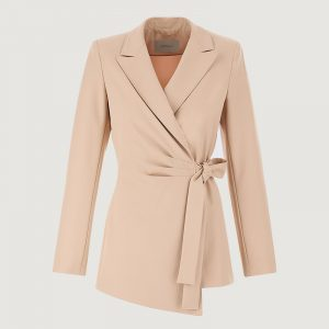 MARELLA FUGA BLAZER WITH BOW 30411211-002-NATURAL