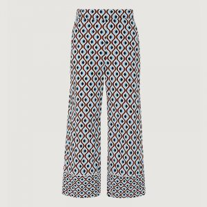 MARELLA MUSICO PATTERNED TROUSERS 31310412-001-DEEP BLUE