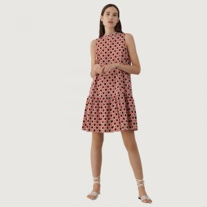 MARELLA IDA PATTERNED DRESS 32210812-002-ORANGE