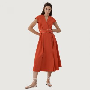 MARELLA NUMERO MIDI DRESS 32212212-003-ORANGE