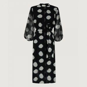 MARELLA PAGLIA SHIRT DRESS 32213012-002-BLACK