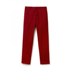 LACOSTE CHINO TROUSER HH4601-00-YPW-AUTUMNAL RED