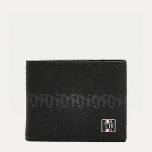 TOMMY HILFIGER ΔΕΡΜΑΤΙΝΟ ΠΟΡΤΟΦΟΛΙ MONOGRAM SMALL AM0AM07285-0GJ-BLACK MONOGRAM