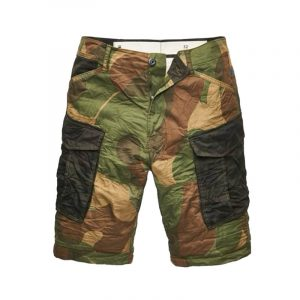 G-STAR RAW ROVIC MIX LOOSE 1/2 SHORT D09872-9275-9282-81 OLIVE/BRONZE GREEN