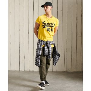 SUPERDRY COLLEGIATE GRAPHIC ΜΠΛΟΥΖΑ M1010881A-NWI-NAUTICAL YELLOW