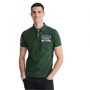 SUPERDRY D1 CLASSIC SUPERSTATE S/S ΜΠΛΟΥΖΑ POLO M1110008A-N6I-DARK FOREST