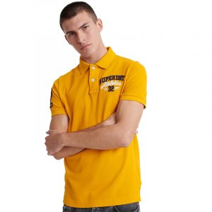 SUPERDRY D1 CLASSIC SUPERSTATE S/S ΜΠΛΟΥΖΑ POLO M1110008A-PG5-UPSTATE GOLD