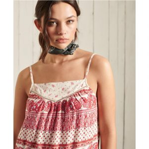 SUPERDRY AMEERA CAMI ΤΟΠ W6010464A-4NJ-PALE ROSE
