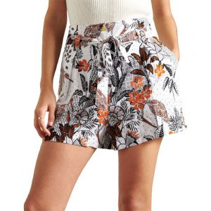 SUPERDRY PRINTED PAPERBAG ΣΟΡΤΣ W7110176A-5NK-WHITE TROPICAL