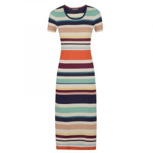 TOMMY HILFIGER ELISE STRIPE DRESS WW0WW18108-901 MULTI COLOR