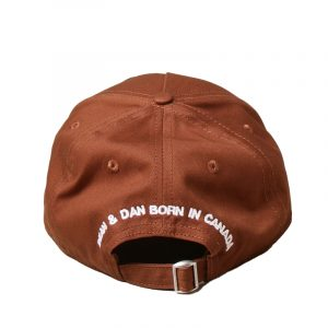 DSQUARED2 ALL BUT THE FLAG BASEBALL CAP BCM4011-05C00001-5087-BROWN