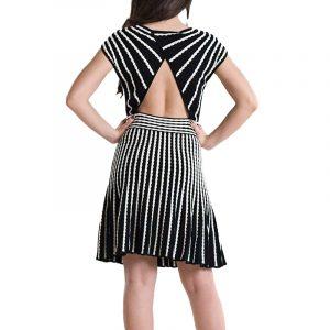 MISSONI DRESS DDC9A075-013 BLACK/WHITE