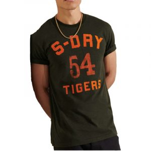 SUPERDRY MILITARY BOX FIT GRAPHIC TEE M1010871A-DR7 BLACK OLIVE GRIT