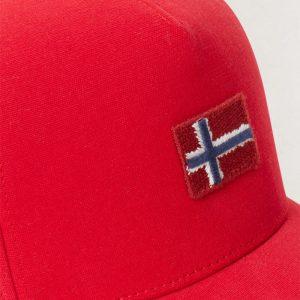 NAPAPIJRI FLAGSTAFF BASEBALL CAP N0YIHE-R70 TRUE RED