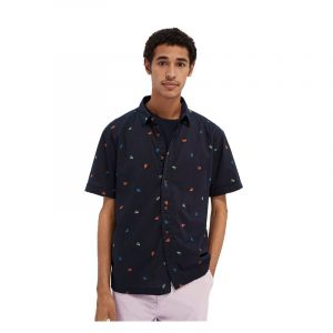 SCOTCH & SODA HAWAII FIT- ALL-OVER PRINTED COTTON SHORTSLEEVE SHIRT 160800-0221-COMBO E