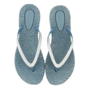 ISLE JACOBSEN GLITTER FLIP FLOPS CHEERFUL01-677 LICHEN BLUE