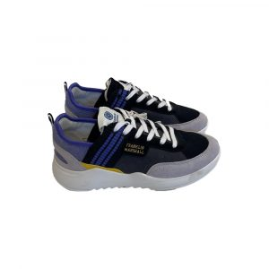 FRANKLIN MARSHALL ALPHA ATHLETIC SNEAKERS FFIE0022T 3034-BLACK/VIOLET /YELLOW