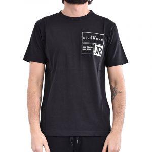JOHN RICHMOND DINCHT T-SHIRT RMP21202TSXX-BLACK/WHITE