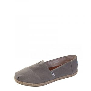 TOMS DRIZZLE GREY WASHED CANVAS ROPE SOLE 10009754 GREY