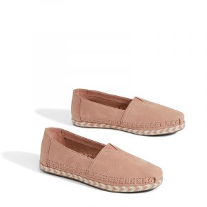 TOMS CLASSIC BLOOM NUBUCK ROPE SOLE 10011648 PINK
