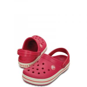 CROCS CROCBAND KIDS 10998-604 RELAXED FIT RASPBERRY-WHITE