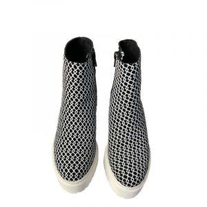 JEFFREY CAMPBELL BANE PLATFORM BOOTS 0101001431-BLACK/WHITE