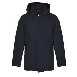 SCOTCH AND SODA HOODED CLEAN COAT 139201-0093 MIDNIGHT BLUE