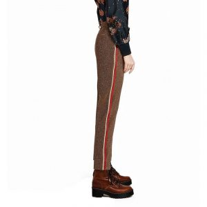 SCOTCH AND SODA COMFORT FIT GLITTER TROUSERS 146699-35000-17 BROWN