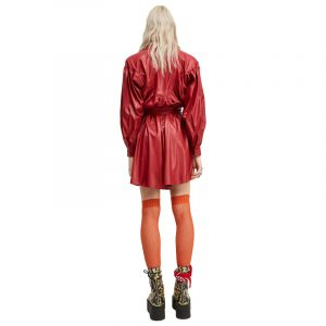 ANIYE BY CHEMISIER  BERRY FAUX LEATHER CHEMISE ΦΟΡΕΜΑ 181302-00003-ROSSO