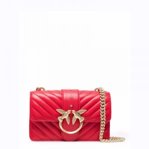 PINKO LOVE MINI ICON V QUILT 3 CL SH ΤΣΑΝΤΑ ΩΜΟΥ 1P22BW Y7FY R43-PURE RED