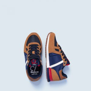 PEPE JEANS SYDNEY COMBI BOY AW21 ΠΑΠΟΥΤΣΙ ΠΑΙΔΙΚΟ SNEAKERS PBS30506-859-TOBACCO