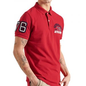 SUPERDRY CLASSIC SUPERSTATE S/S POLO Μ1110008A-WA7 ROUGE RED